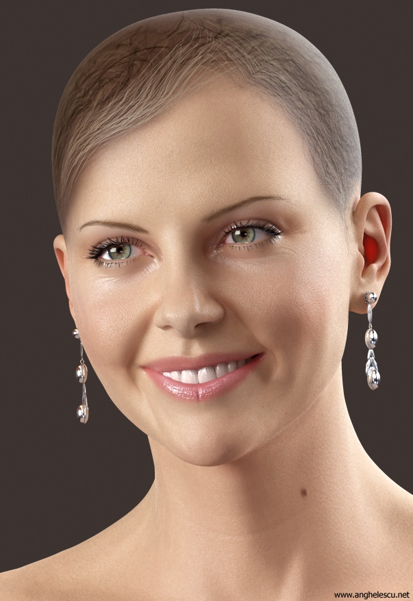 charlize theron 3d model - no hair