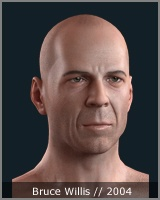 Bruce Willis - face 3d model